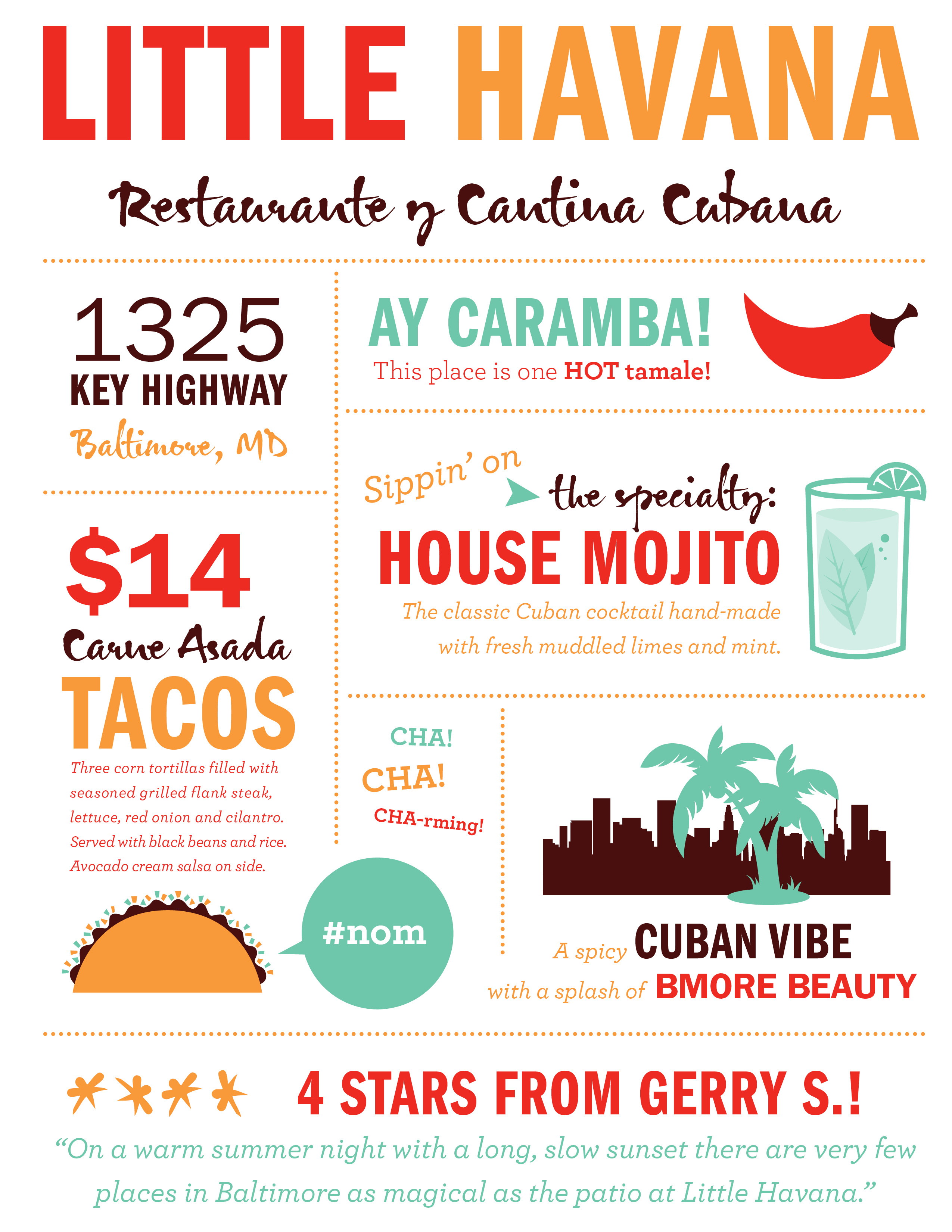 Food Type Little Havana Tomahawk Design Co